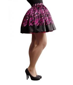 Retro szoknya - fekete, pink